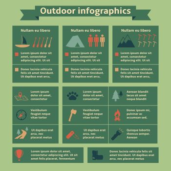 Outdoor Travel Infographic Elements