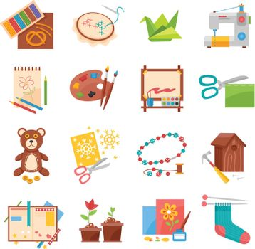 Hobbies icons set