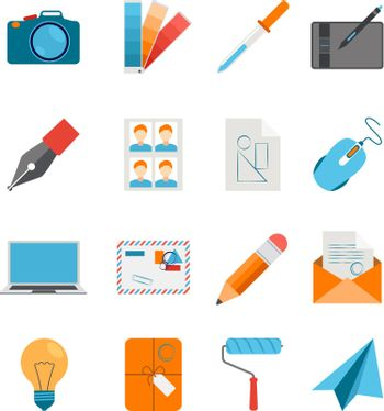 Flat Icons Set For Web And Graphic Design