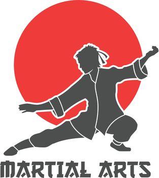 Martial Arts Logo Illustration