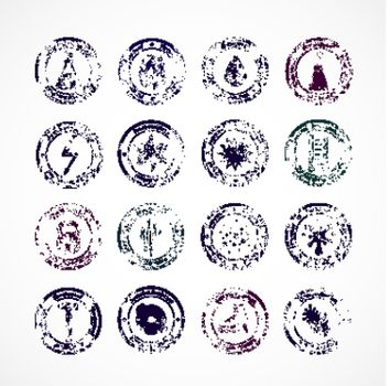 Protection Proof Round Stamps