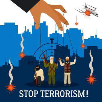 Stop Terrorism Illustration