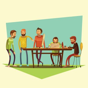 Coworking And People Illustration