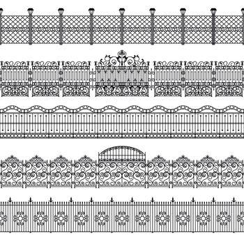 Fences Border Pattern Set