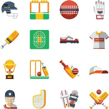 Cricket Icons Set