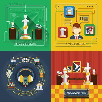 Museum Icon Composition Set