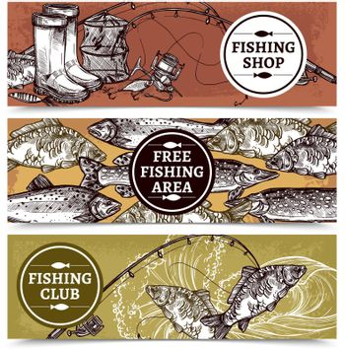 Fishing Horizontal Banners