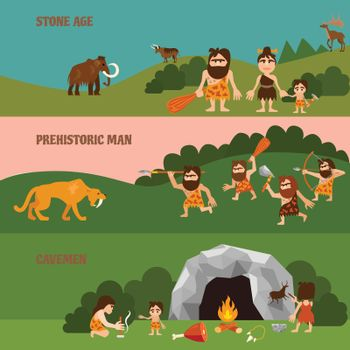 Stone Age Horizontal Banners