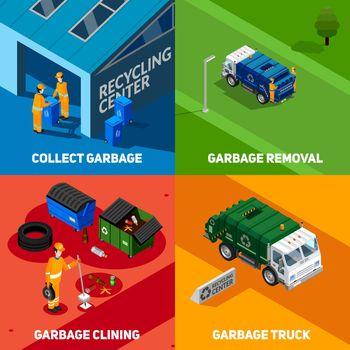 Garbage 2x2 Isometric Design Concept