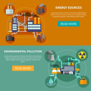 Energy sources and environmental pollution banner