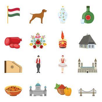 Hungary Travel Icon Set