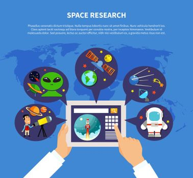 Space Research Concept
