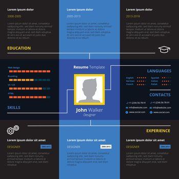 Resume Design Illustration