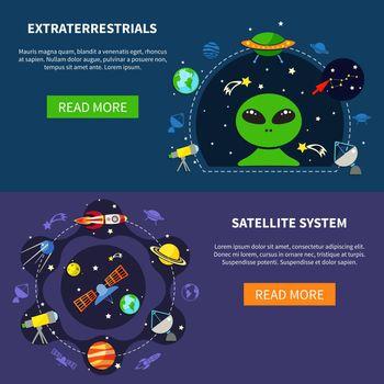 Satellite System Banners Set