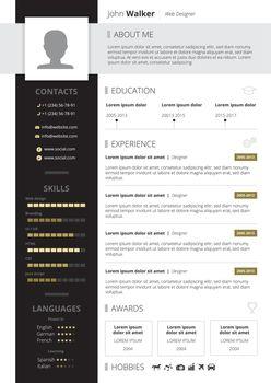 CV Design Illustration