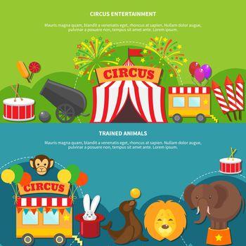 Circus entertainment  horizontal banner
