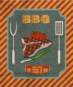 Barbecue retro poster