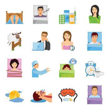 Sleep Disorders Icon Set