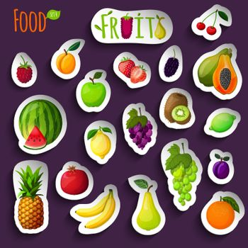 Fresh fruits stickers