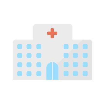 Hospital, clinic vector icon illustration