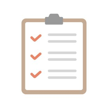 Checklist, medical check form  vector icon illustration