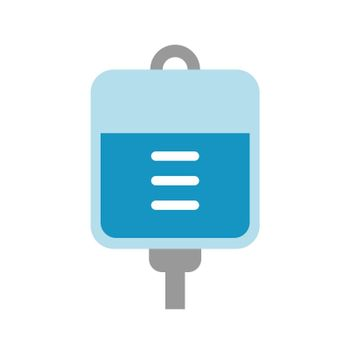 intravenous drip ( iv, saline ) vector icon illustration