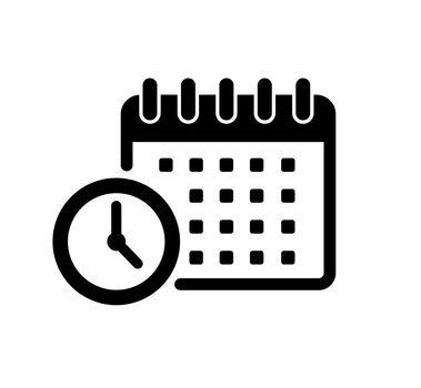Schedule, task management vector icon illustration