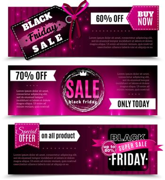 Black Friday Sale Horizontal Banners