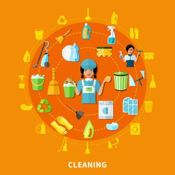Cleaning Tools Round Composition