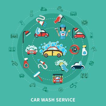 Car Wash Round Composition