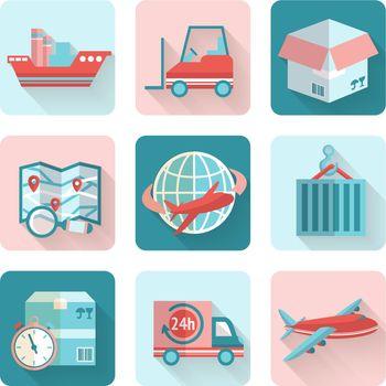 Logistic Flat Icons