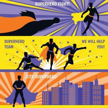 Superhero Horizontal Banners Set