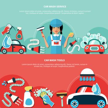Car Wash Tools Banners