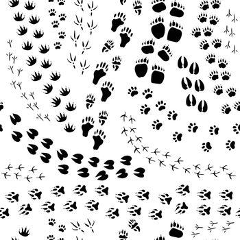 Animal Track Seamless Pattern