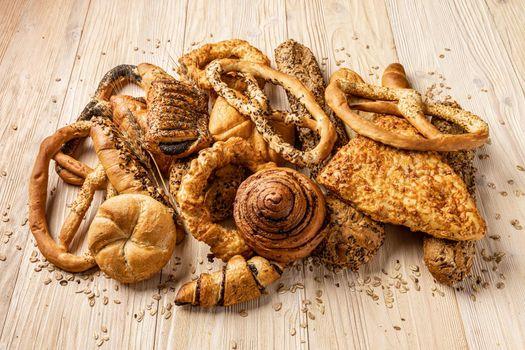 Assortment of bakery goods