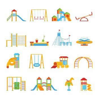 Playground Equipment Icon Set