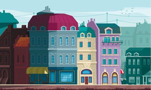 Architectural Housing Evolution Street Corner