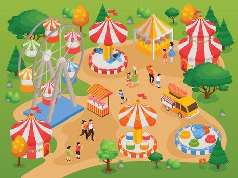 Amusement Park Background