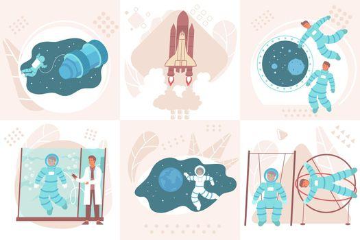 Flat Astronauts Design Concept