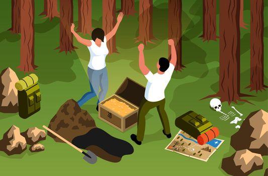 Forest Treasure Hunt Composition