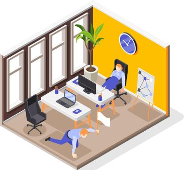 Burnout Syndrome Isometric Composition