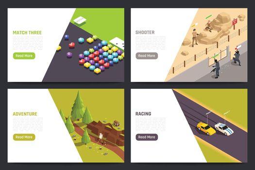Mobile Gaming Full Screen Set