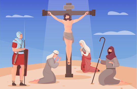 Crucified Jesus Illustration