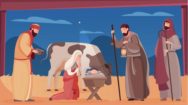 Jesus Birth Illustration