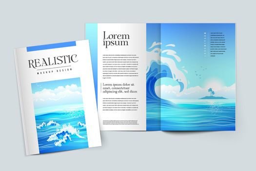 Mockup Design Of Magazine Cover