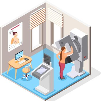 World Cancer Day Isometric Concept
