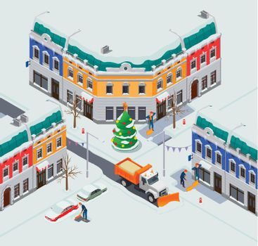 Snow Clearing Town Composition