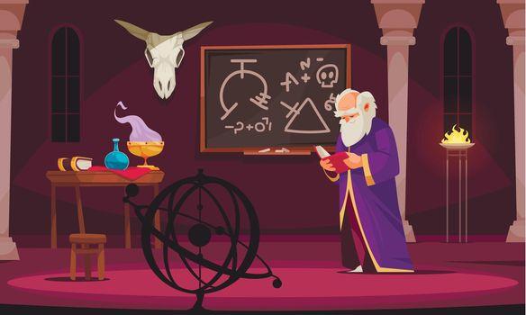 Alchemy Cartoon Illustration