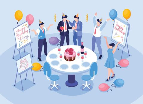 Birthday Office Congratulation Concept