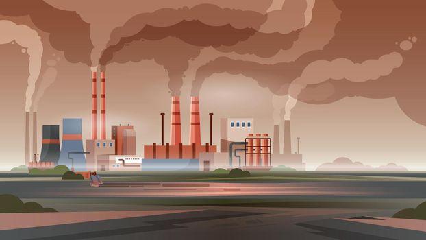 Flat Factory Illustration